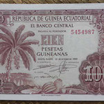 Guinea Ecuatorial 100 pesetas 1969 (138x88mm) pk.1 anverso