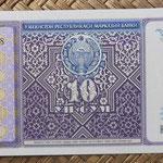 Uzbekistan 10 sum 1994 (144x68mm) pk.76a anverso
