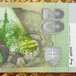 Eslovaquia 20 korun 1993 Conm.BiMilenium reverso