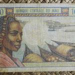 Mali 100 francos 1972-73 (122x80mm) pk.11 reverso