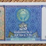 Uzbekistan 25 sum 1994 (144x68mm) pk.77a anverso