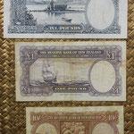 Nueva Zelanda chelines y libras 1940-1967 -James Cook reversos
