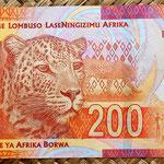 Sudáfrica 200 rand 2012 reverso