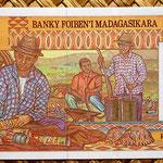 Madagascar 10000 francos - 2000 ariary 1995 pk.79 reverso