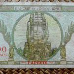 Tahiti 100 francos 1963 pk.14d reverso