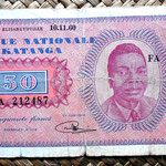Katanga 50 francos 1960 anverso