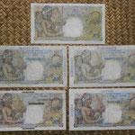 Colonias francesas de Ultramar 50 francos Belain d'Esnambuc 1947-1960 reversos