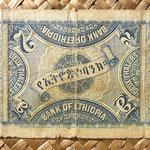 etiopia 2 thaler 1933 reverso