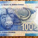 Sudáfrica 100 rand 2012 reverso