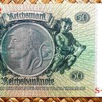 Alemania 50 reichsmark 1933 reverso