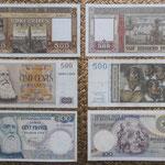 Belgica y Congo Belga francos Leopoldo II años '50 anversos-reversos