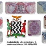 Zambia series Ngwee y Kwachas 1968-1973 escudo de armas