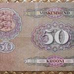 Estonia 50 krooni 1929 (156x98mm) pk.65 reverso