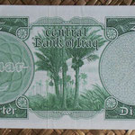 Irak 1/4 dinar 1959 (130x65mm) pk.51b reverso