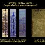 Georgia 100 laris 2016 pk.80 seguridades y marca de agua