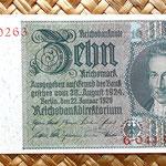 Alemania 10 reichsmark 1929 anverso