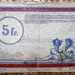 Francia 5 francos 1923 -Régie des Chemins de Fer des Territoires Occupés- reverso
