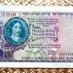 Sudáfrica 20 rands 1962 anverso