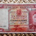 Rodesia del Sur 10 shillings 1939 (134x76mm) anverso