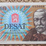 Checoslovaquia 10 korun 1986 anverso