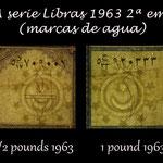 Libia serie libras 1963 2ª emisión marcas de agua