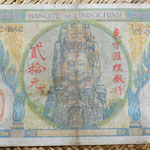 Indochina asiática francesa 20 piastras 1931 reverso
