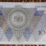 Holanda 100 gulden 1947 (153x81mm) pk.82 reverso