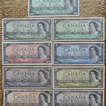 Canada serie Dollars 1954 Queen Elizabeth II anversos