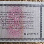 Alemania bono 10 Reichsmark -jewish notes- 1933-resello 1934 (190x110mm) pk.208 reverso
