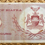 Biafra 1 pound 1967 reverso
