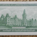 Canada 1 dollar 1967 (154x70mm) Conm. Centenary Canadian Confederation pk.84a reverso