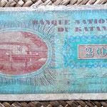 Katanga 20 francos 1960 reverso