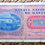 Katanga 50 francos 1960 reverso