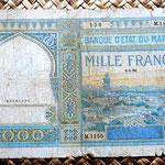 Marruecos colonial 1000 francos 1950 anverso
