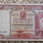 Southern Rhodesia 10 shillings 1939 (134x74mm) pk.9 anverso