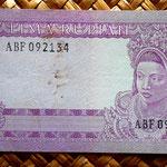Indonesia 5 rupias 1960 pk. 82a reverso