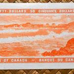 Canadá 50 dólares 1961 reverso