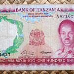 Tanzania 100 shillings 1966 anverso