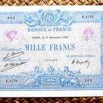 Francia 1000 francos Bleu et Rose 1924 anverso