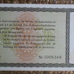Alemania bono 5 Reichsmark -jewish notes- 1933-resello 1934 (190x110mm) pk.207 reverso