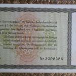 Alemania bono 5 Reichsmark -jewish notes- 1933-resello 1934 (190x110mm) pk.207 reverso