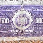 Bolivia 500 bolivianos 1928 (176x90mm) reverso