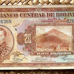 Bolivia 20 bolivianos 1928 (160x80mm) anverso