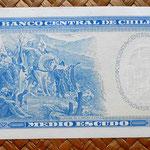 Chile 0,50 escudos 1970-73 reverso