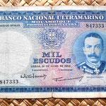 Mozambique colonial 1000 escudos 1953 anverso