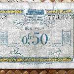 Francia 0.50 francos 1923 -Régie des Chemins de Fer des Territoires Occupés- anverso