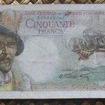 Africa Ecuatorial Francesa 50 francos 1947 (150x80mm) pk.23 anverso