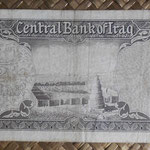 Irak 1/2 dinar 1959 (140x70mm) pk.52a reverso