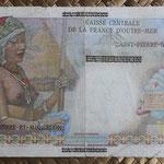 San Pedro y Miguelón 50 francos 1960  sobreimpreso 1NF pk. 30b reverso