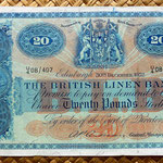 Escocia 20 pounds sterling -British Linen Bank 1952 (205x128mm) anverso